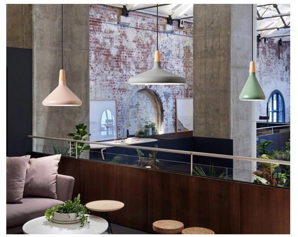 Restaurant Chandelier - Nordic Style and Modern Chandelier, Iron Chandelier, Lighting, LOFT Light, Single Head Lamp, Contracted Lamp 14