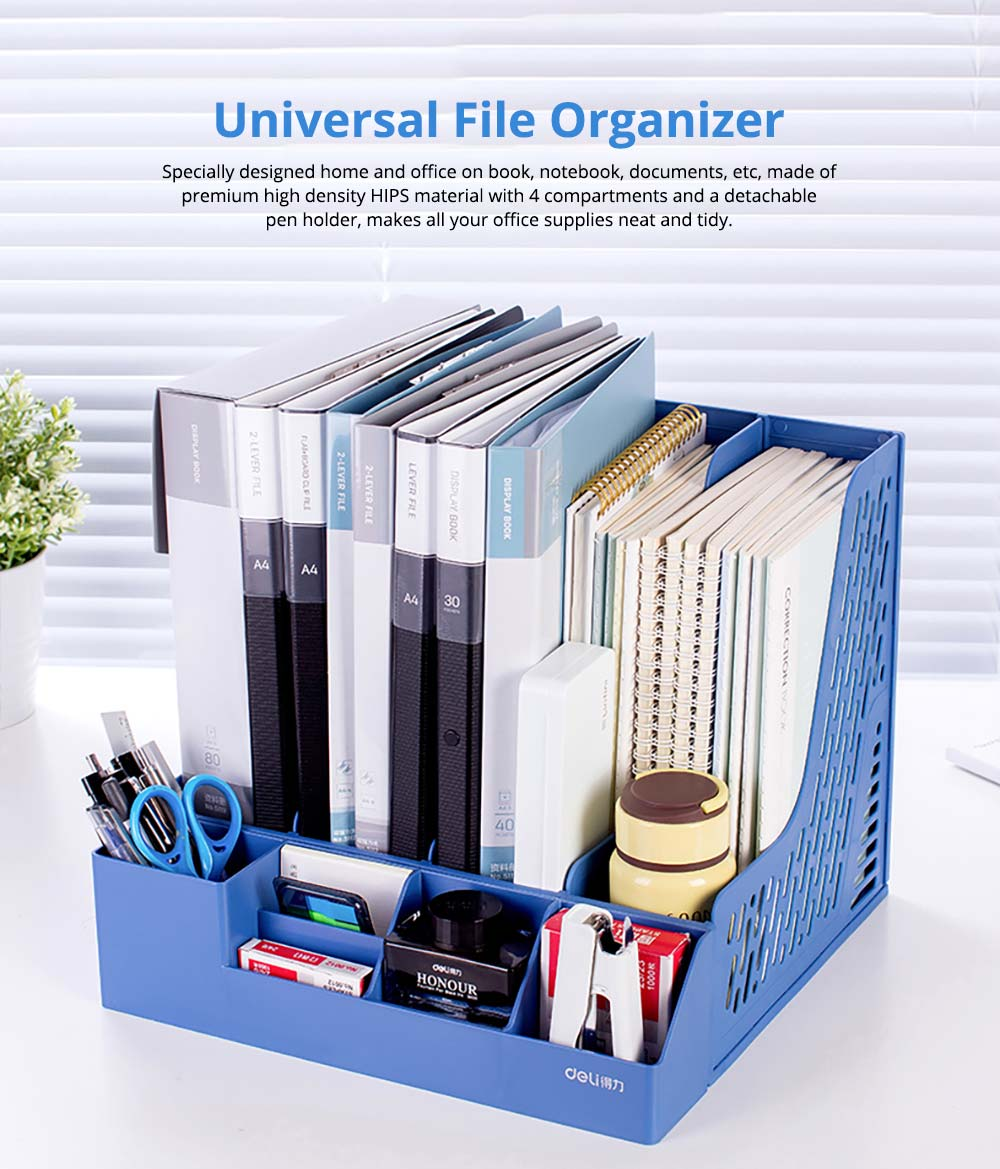 Universal File Organizer for Documents, Tickets, Home & School File, Practical Desktop Documents Storage Holder Office Supplies 7