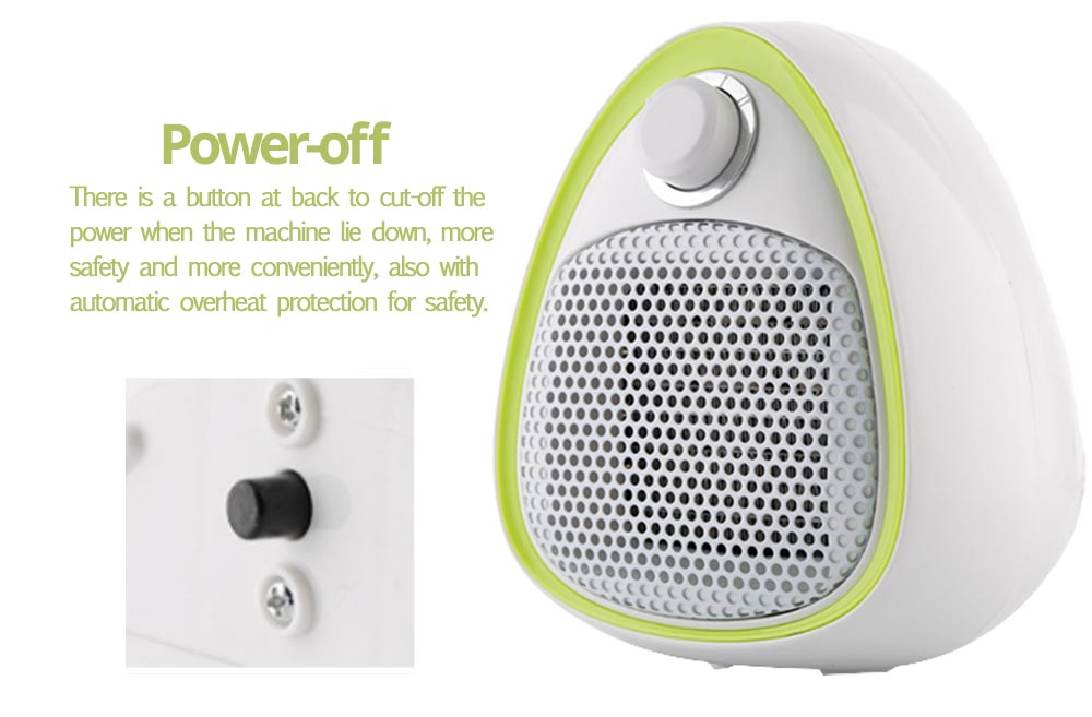 Mini Handy Heater, Streamlined Lovely Quiet Ceramics Three Gear Hot or Cold Air Winter Fan for Home Office Warmer 8