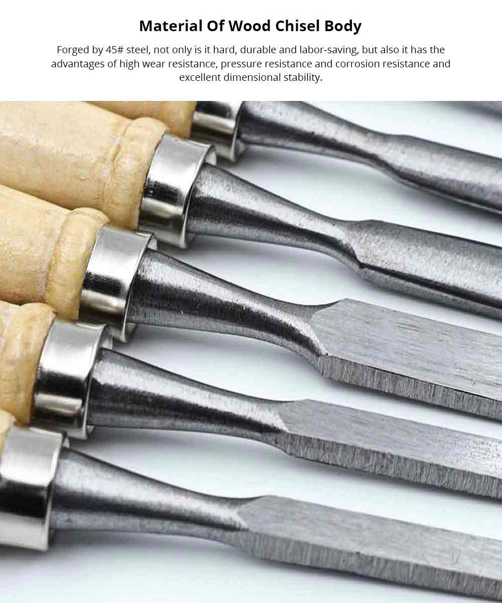 Wood Chisel, 12 PCS Percussion Chisel, Woodcut Knife, Half Round Chisel - Woodworking Tools and Accessories Hand Tools 1