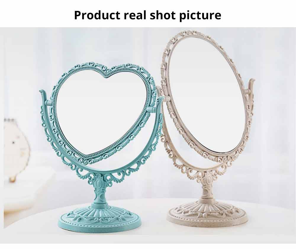 Two-Sided Makeup Mirror - Round Cosmetic Mirror and Magnification 6