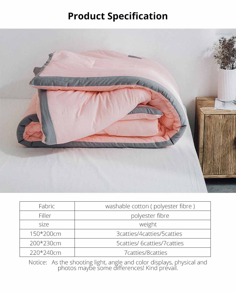 Warm Quilt For Winter, Washable Cotton Quilt Thickened, Single Double King Size Bed Sheet Duvet Cover 12