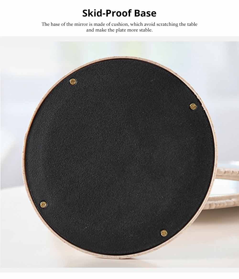 Two-Sided Makeup Mirror - Round Cosmetic Mirror and Magnification 4