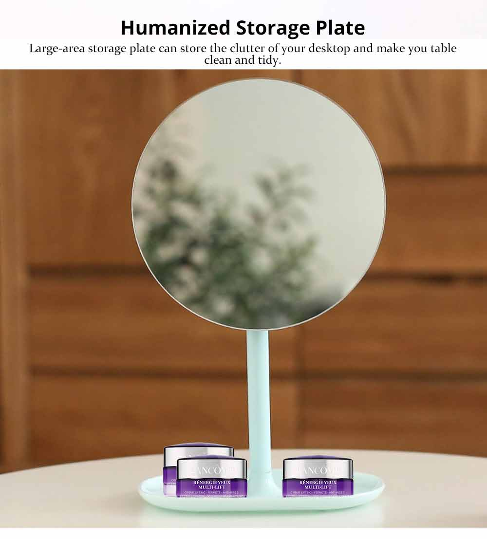 Table Top Vanity Mirror - Table Cosmetic Mirror For Vanity, One-Sided Round Cosmetic Mirror For Makeup 10