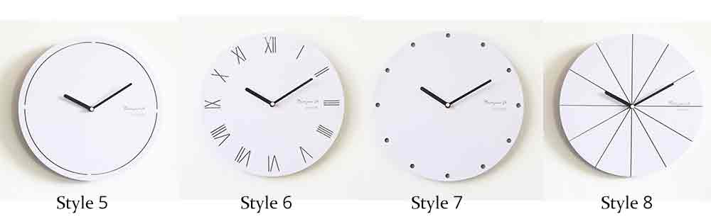 Round Wall Clock, Creative Wooden Wall Clock Modern Design Decoration, Silence 13
