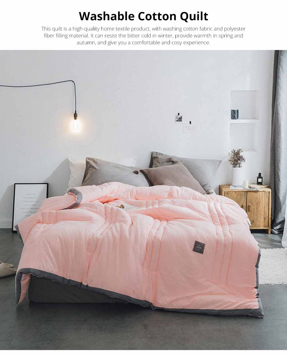 Warm Quilt For Winter, Washable Cotton Quilt Thickened, Single Double King Size Bed Sheet Duvet Cover 7