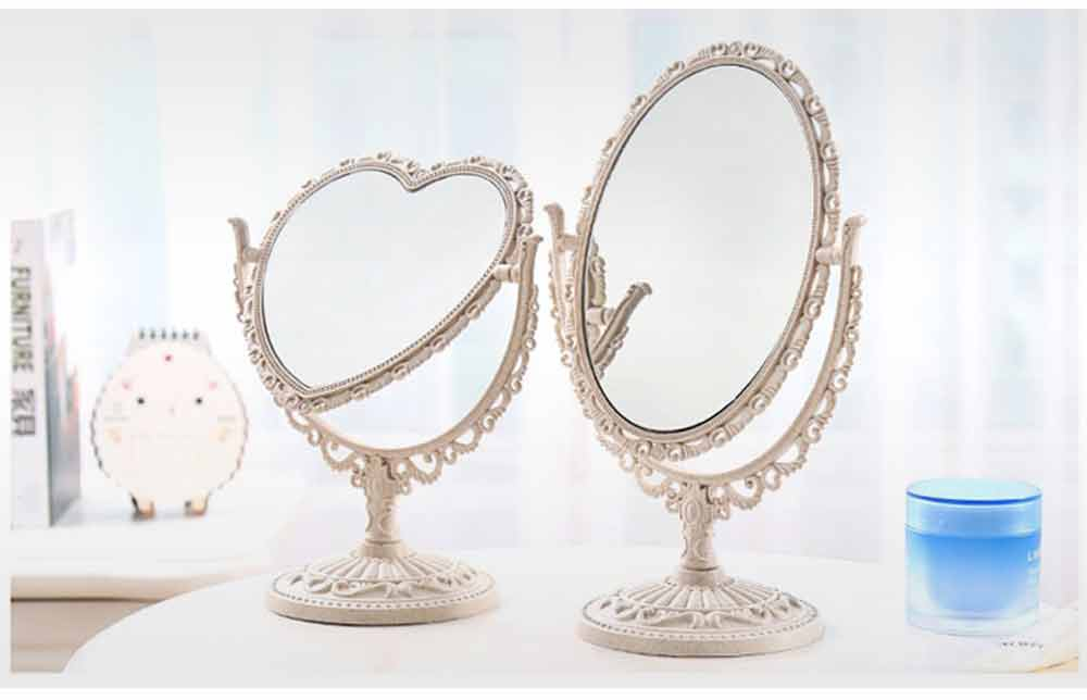 Two-Sided Makeup Mirror - Round Cosmetic Mirror and Magnification 7