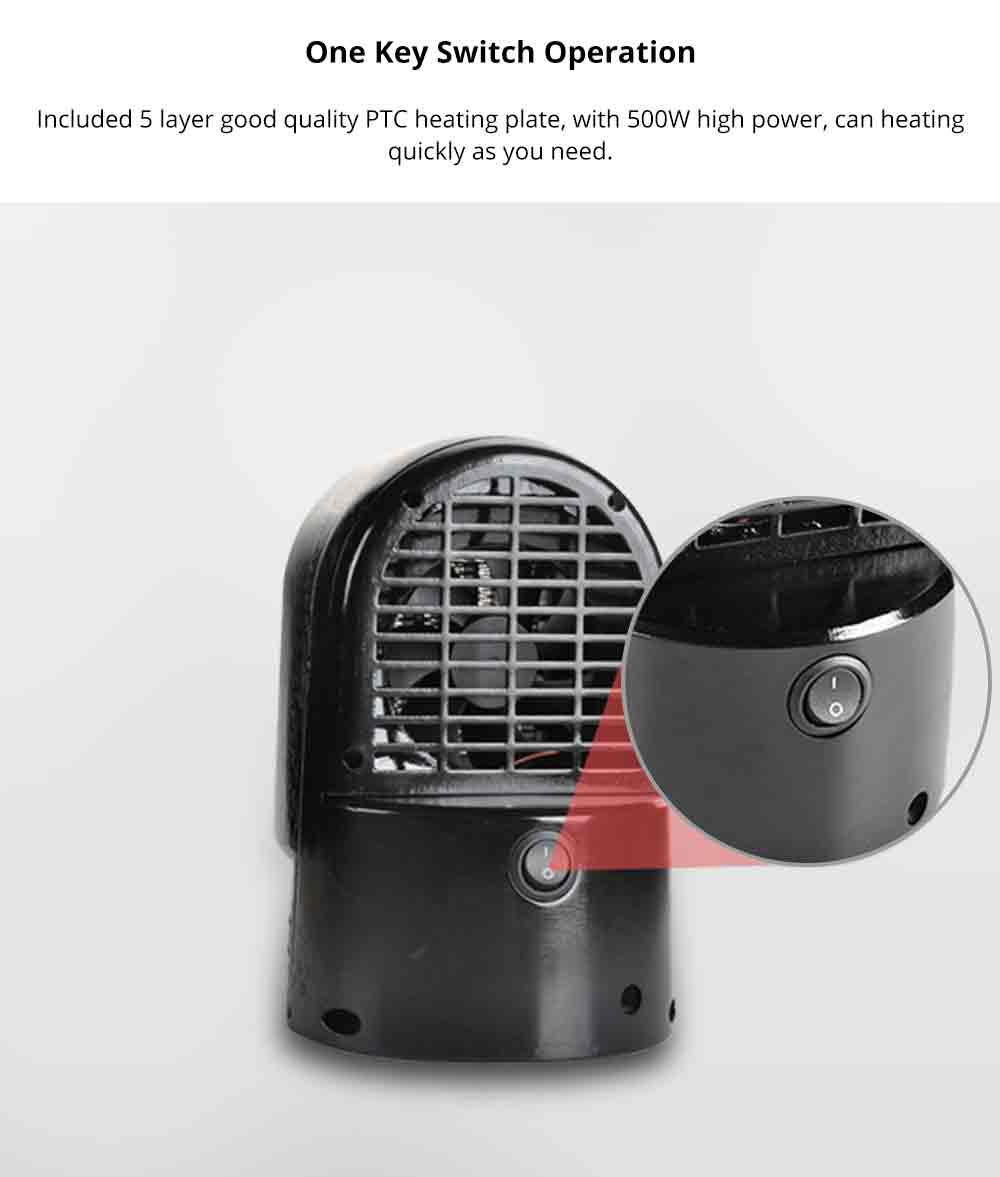 Handy Heater - Portable Mini Furnace, 500W High Power Small Winter Fan Hot Air Warmer for Home Office 3