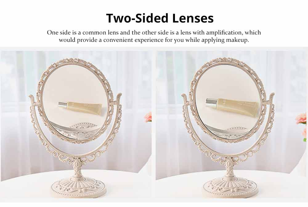 Two-Sided Makeup Mirror - Round Cosmetic Mirror and Magnification 5
