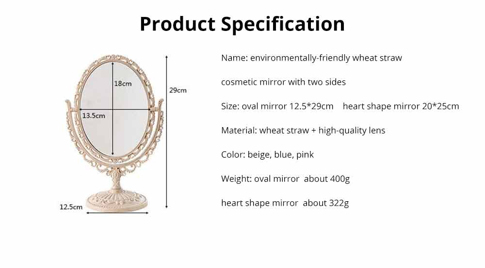 Two-Sided Makeup Mirror - Round Cosmetic Mirror and Magnification 16