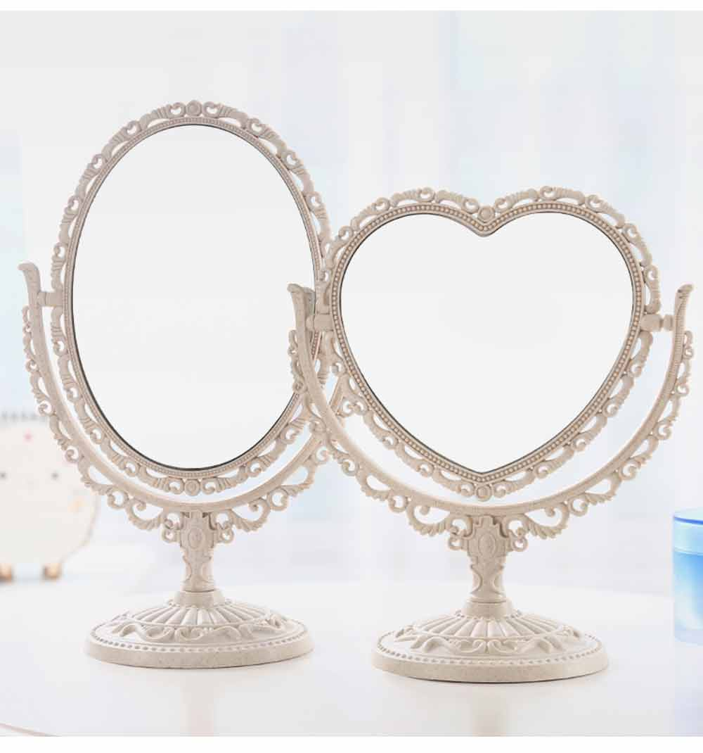 Two-Sided Makeup Mirror - Round Cosmetic Mirror and Magnification 15