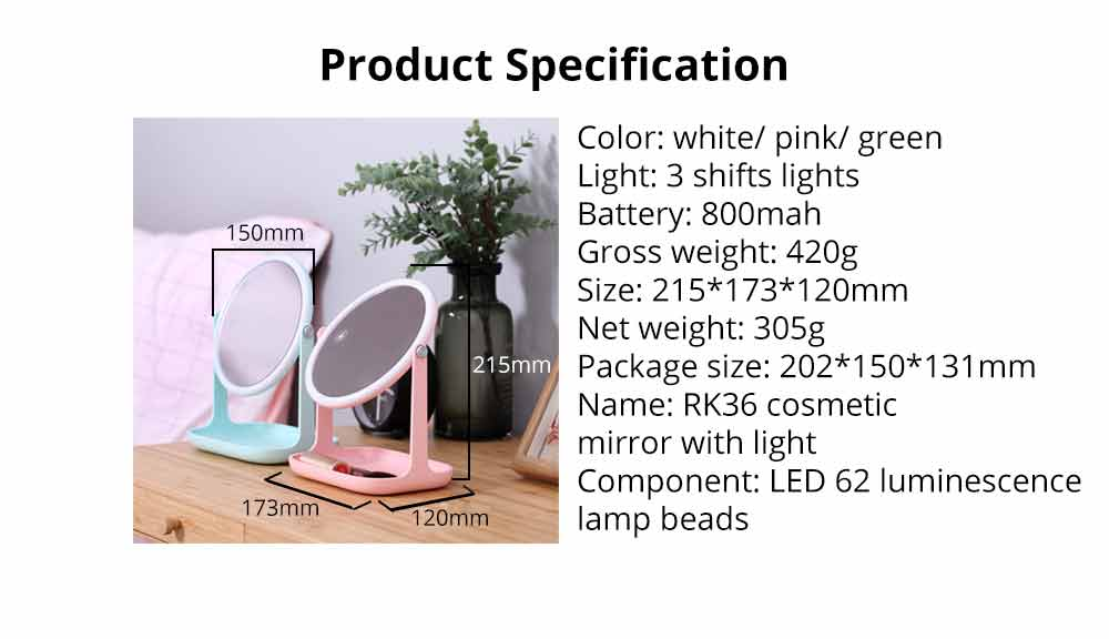 Makeup LED Mirror - Smart Touch Mirror with Lights For Vanity 11