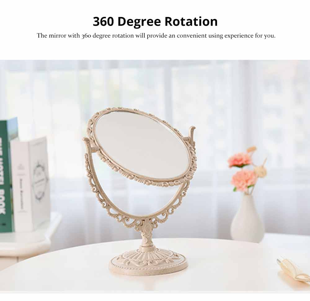 Two-Sided Makeup Mirror - Round Cosmetic Mirror and Magnification 8