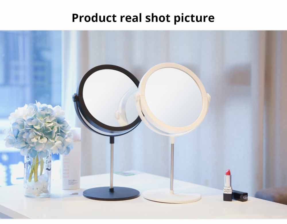 Round Makeup Mirror and Magnification 2×~3×, Table Cosmetic Mirror for Vanity 13