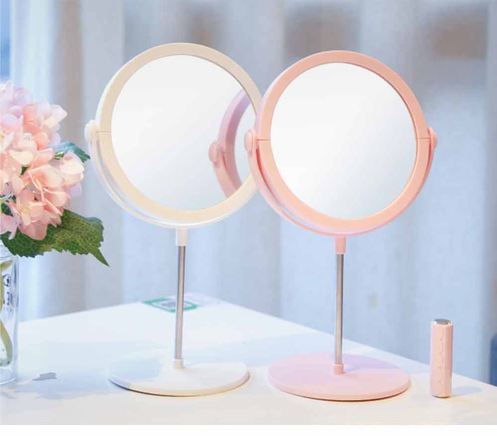 Round Makeup Mirror and Magnification 2×~3×, Table Cosmetic Mirror for Vanity 14