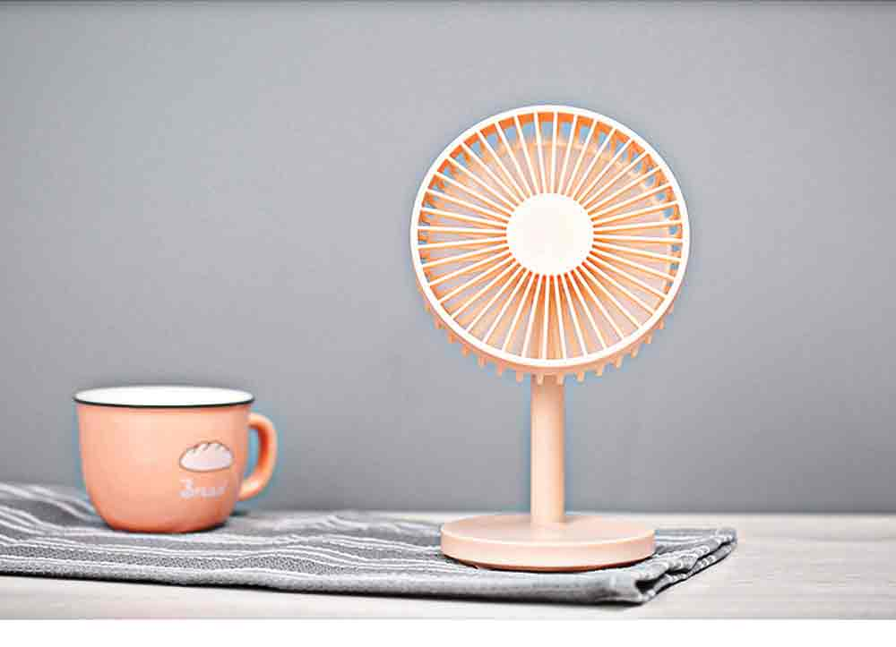 USB Desktop Mini Fan - USB Charge Mini Fan Cooling Air Desktop Hand Hold Portable Fan 3 Levels Adjustable 9