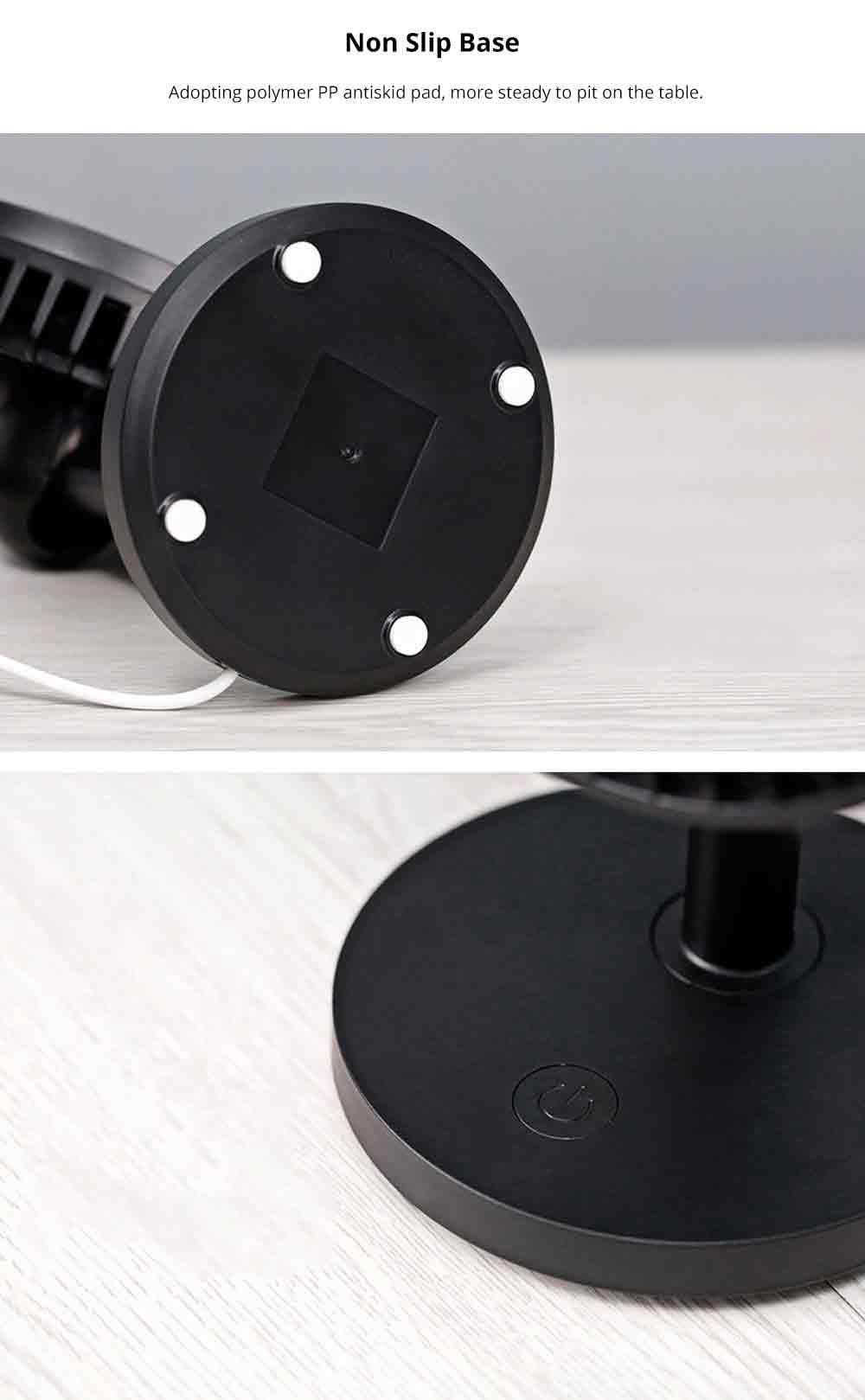 USB Desktop Mini Fan - USB Charge Mini Fan Cooling Air Desktop Hand Hold Portable Fan 3 Levels Adjustable 12