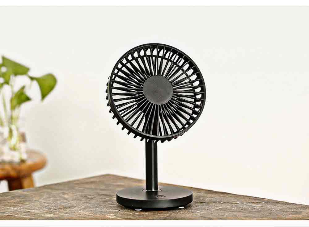 USB Desktop Mini Fan - USB Charge Mini Fan Cooling Air Desktop Hand Hold Portable Fan 3 Levels Adjustable 15