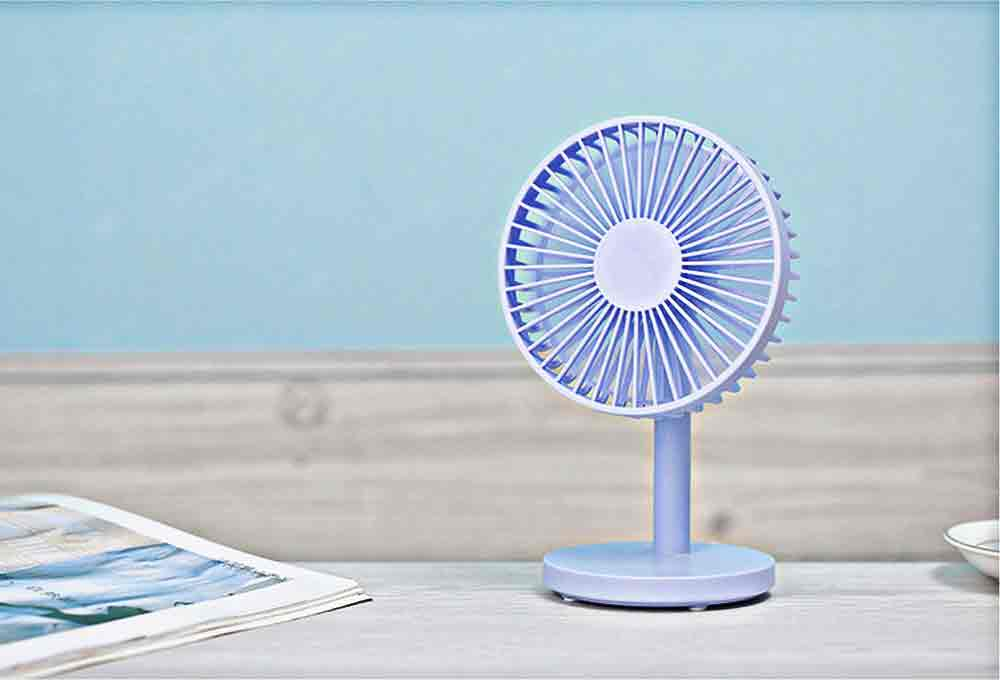 USB Desktop Mini Fan - USB Charge Mini Fan Cooling Air Desktop Hand Hold Portable Fan 3 Levels Adjustable 11