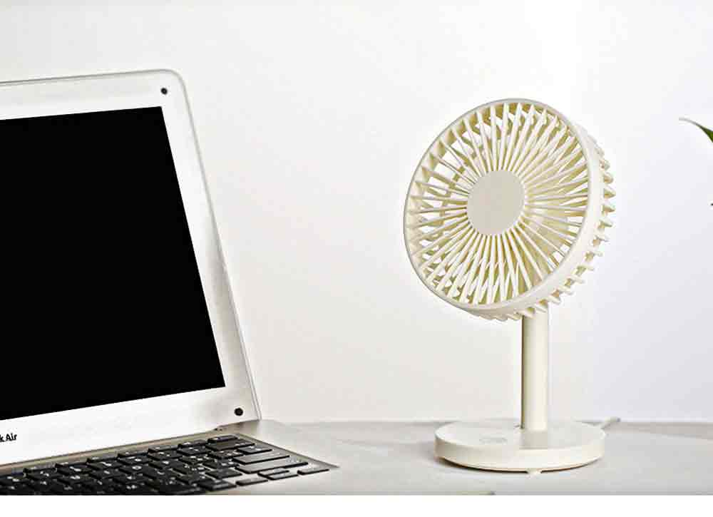 USB Desktop Mini Fan - USB Charge Mini Fan Cooling Air Desktop Hand Hold Portable Fan 3 Levels Adjustable 10