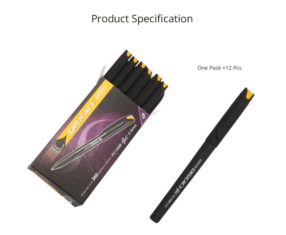Neutral Pen - Black Mature Business Gel Pen, Office Signature Student Write, 0.5mm 8