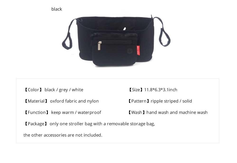Stroller Bag Holder - Waterproof Keep Warm Stroller Bag Cup Holder with Phone Pram 19