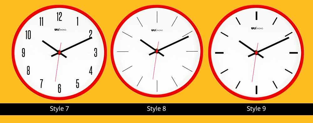 Modern Wall Clock Large - Minimalist Scale Silence Wall Clock Round Watch 10-inch 7