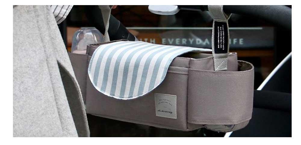 Stroller Organiser Bag Phone Pram Stroller Bag Buggy Storage Pushchair Bag Organizer Bottle Cup Pouch Holder Handbag 2