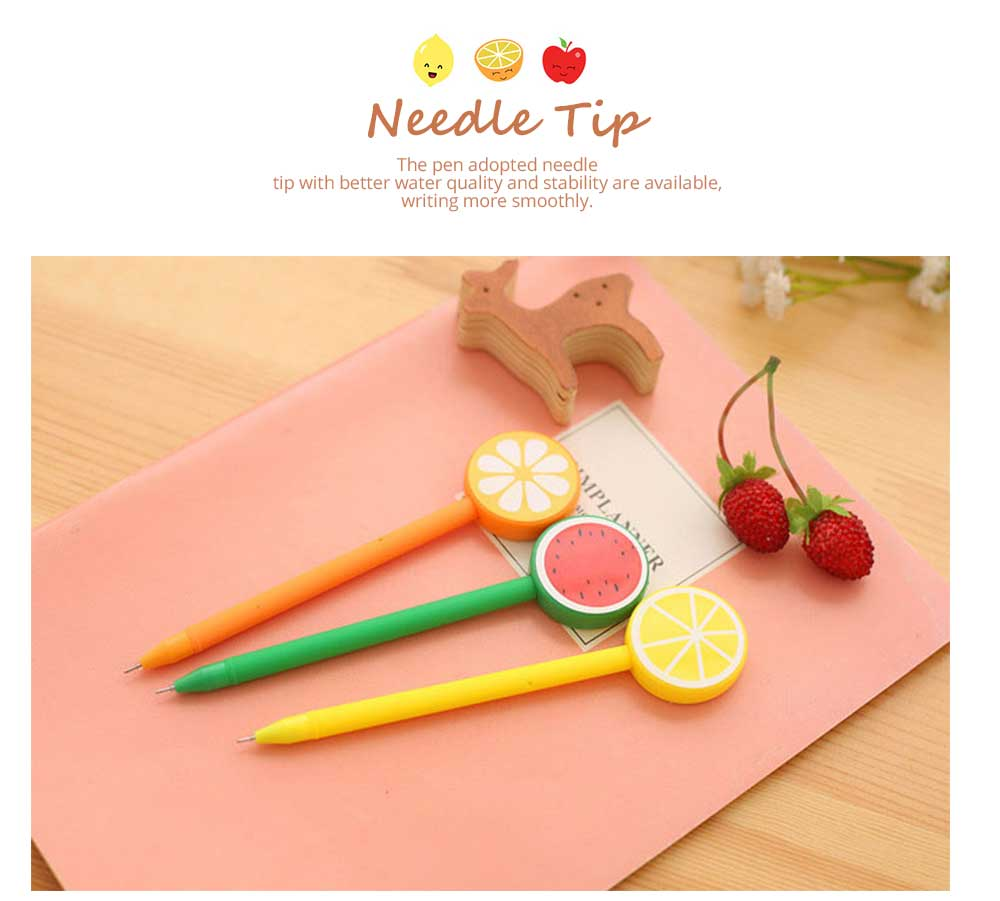 Unique Pen - Office Signature Pens with Needle Tip Colorful Fruits Sculpt, 0.5mm 6