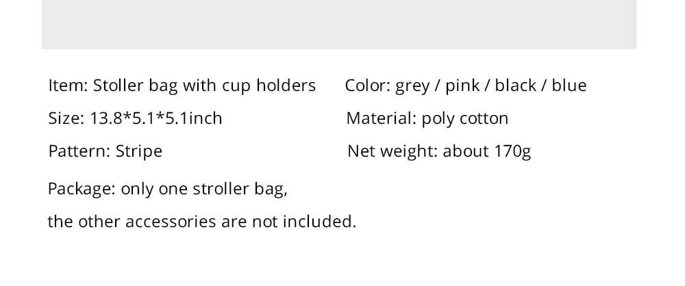 Stroller Organiser Bag Phone Pram Stroller Bag Buggy Storage Pushchair Bag Organizer Bottle Cup Pouch Holder Handbag 9