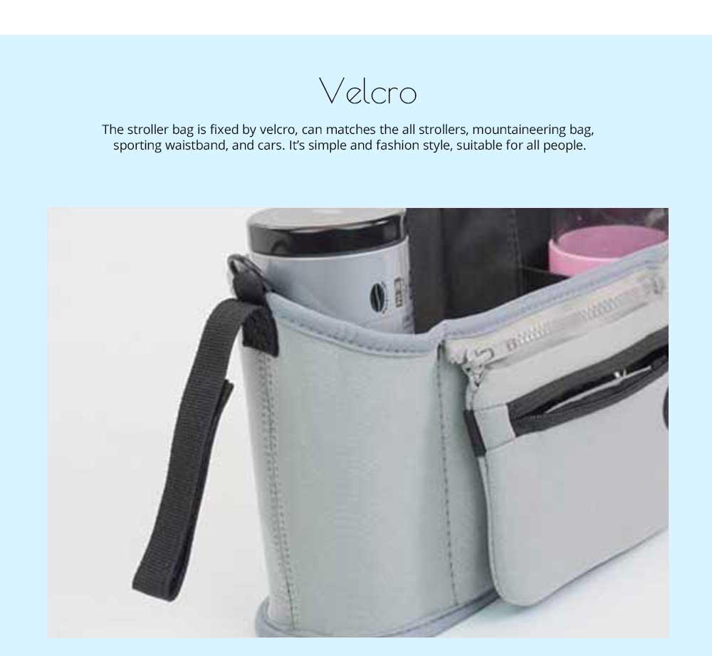 Stroller Bag Holder - Waterproof Keep Warm Stroller Bag Cup Holder with Phone Pram 13