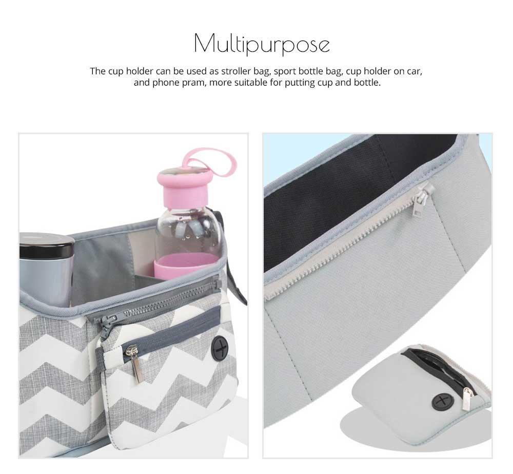 Stroller Bag Holder - Waterproof Keep Warm Stroller Bag Cup Holder with Phone Pram 8