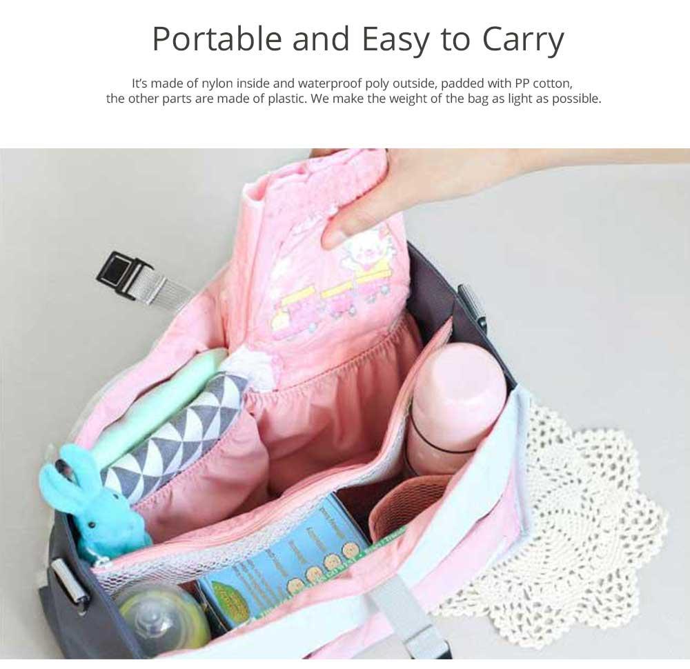 Mom's Stroller Bags, Waterproof Hanging Carriage Pram Buggy Trolley Bottle Pack 9