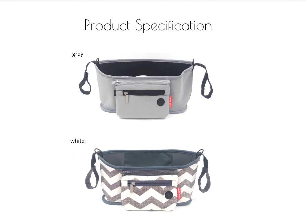 Stroller Bag Holder - Waterproof Keep Warm Stroller Bag Cup Holder with Phone Pram 18