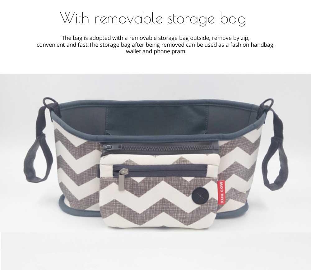 Stroller Bag Holder - Waterproof Keep Warm Stroller Bag Cup Holder with Phone Pram 15