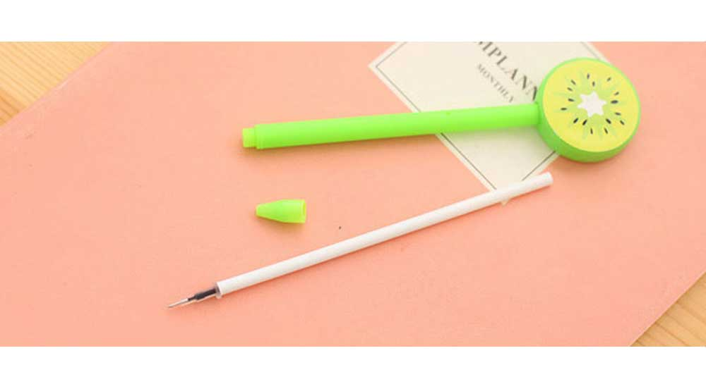 Unique Pen - Office Signature Pens with Needle Tip Colorful Fruits Sculpt, 0.5mm 11