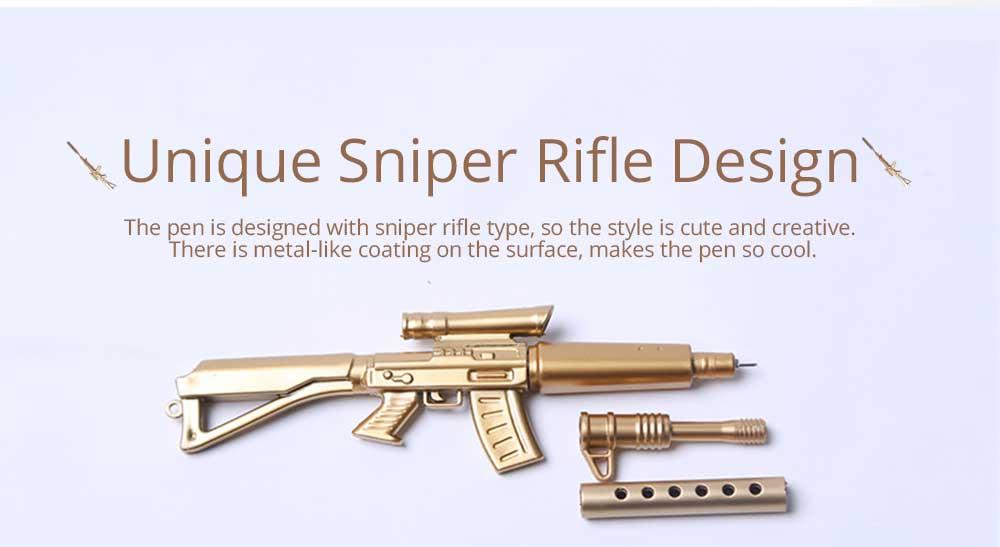 Cool Pen - Sniper Rifle Sculpt Black Neutral Pen, Unique Pen for Gifts 2