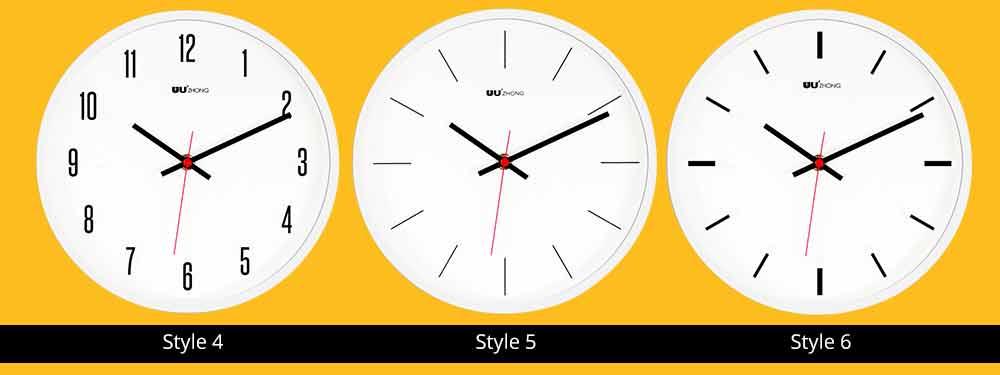 Modern Wall Clock Large - Minimalist Scale Silence Wall Clock Round Watch 10-inch 6
