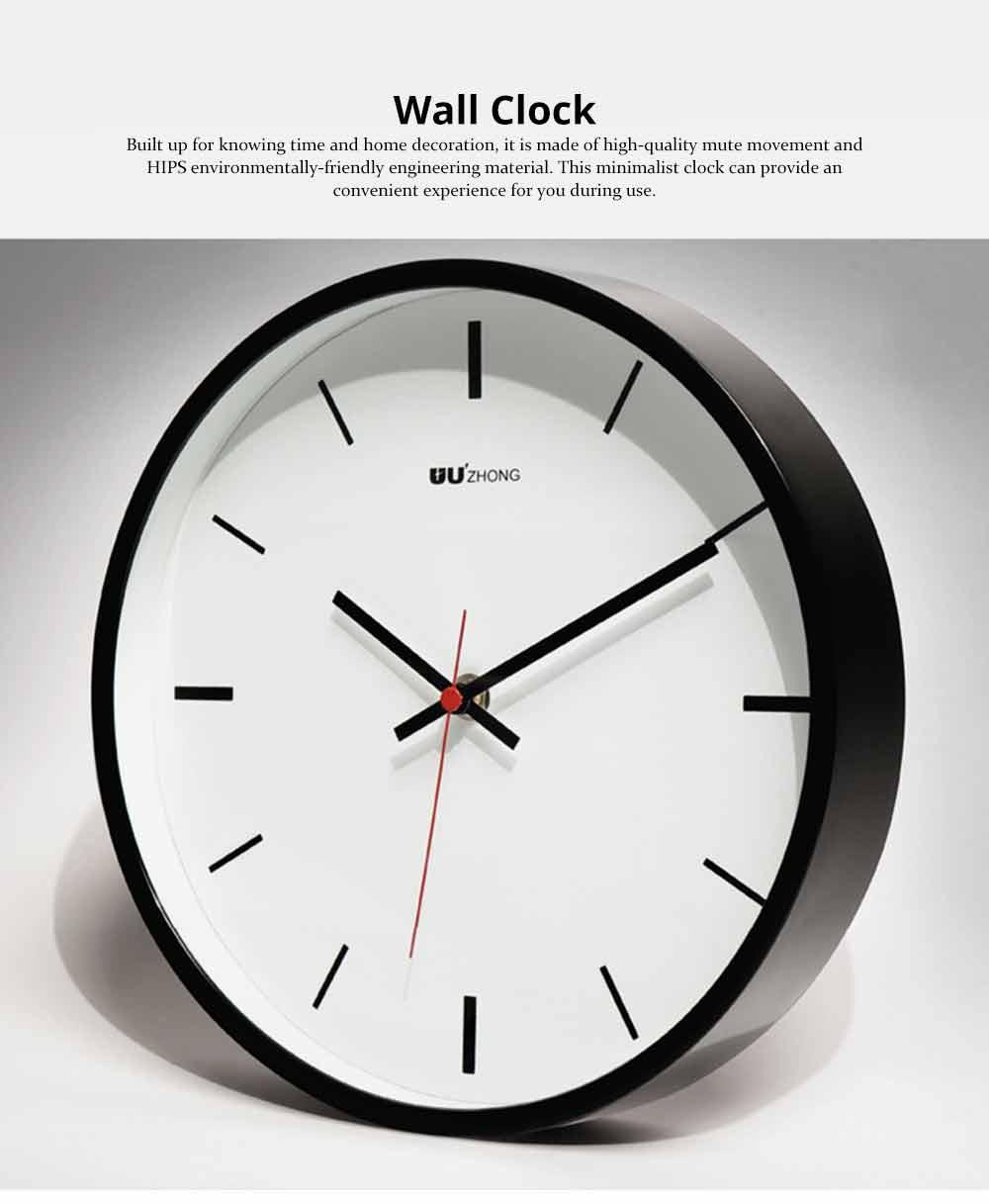 Modern Wall Clock Large - Minimalist Scale Silence Wall Clock Round Watch 10-inch 0