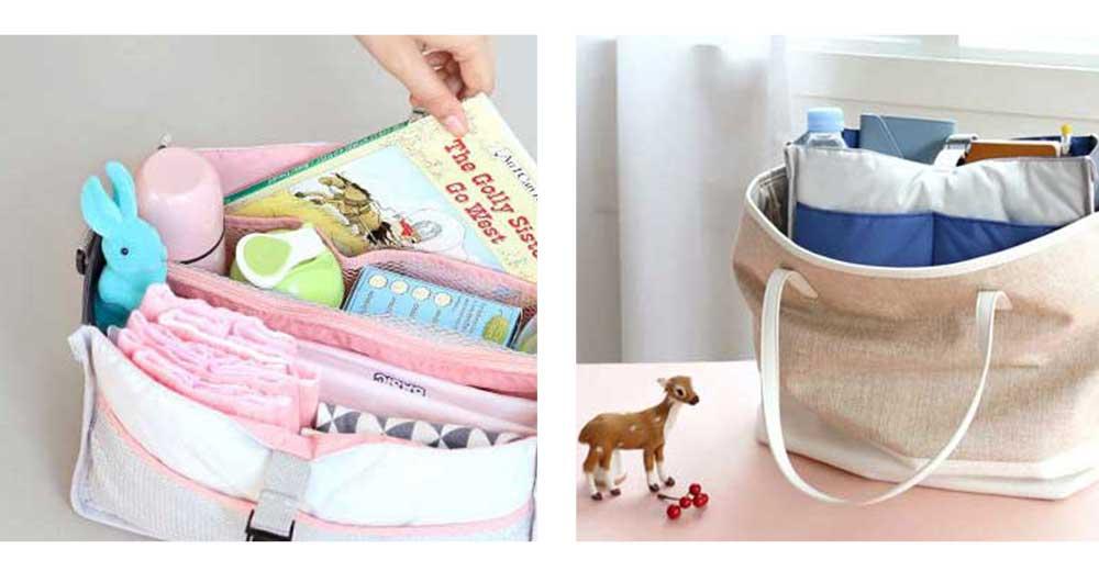 Mom's Stroller Bags, Waterproof Hanging Carriage Pram Buggy Trolley Bottle Pack 6