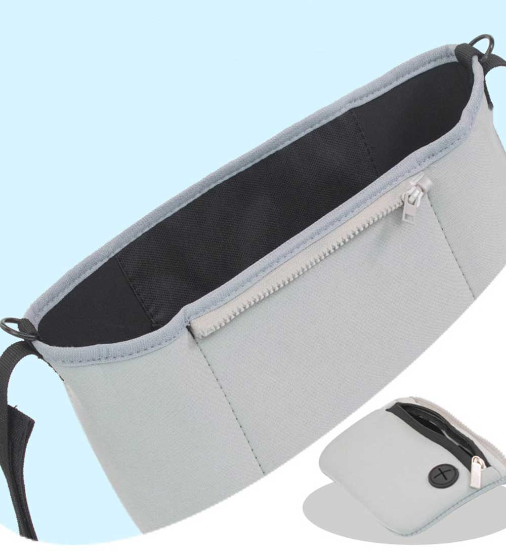 Stroller Bag Holder - Waterproof Keep Warm Stroller Bag Cup Holder with Phone Pram 7