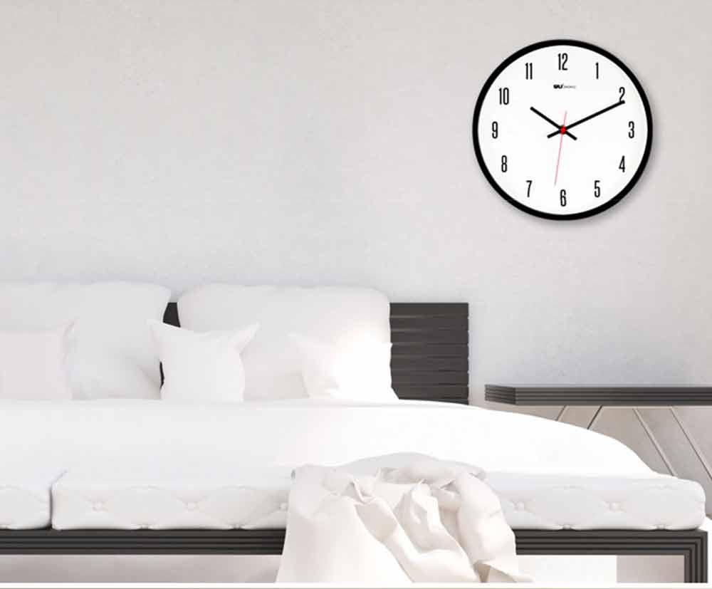 Modern Wall Clock Large - Minimalist Scale Silence Wall Clock Round Watch 10-inch 9