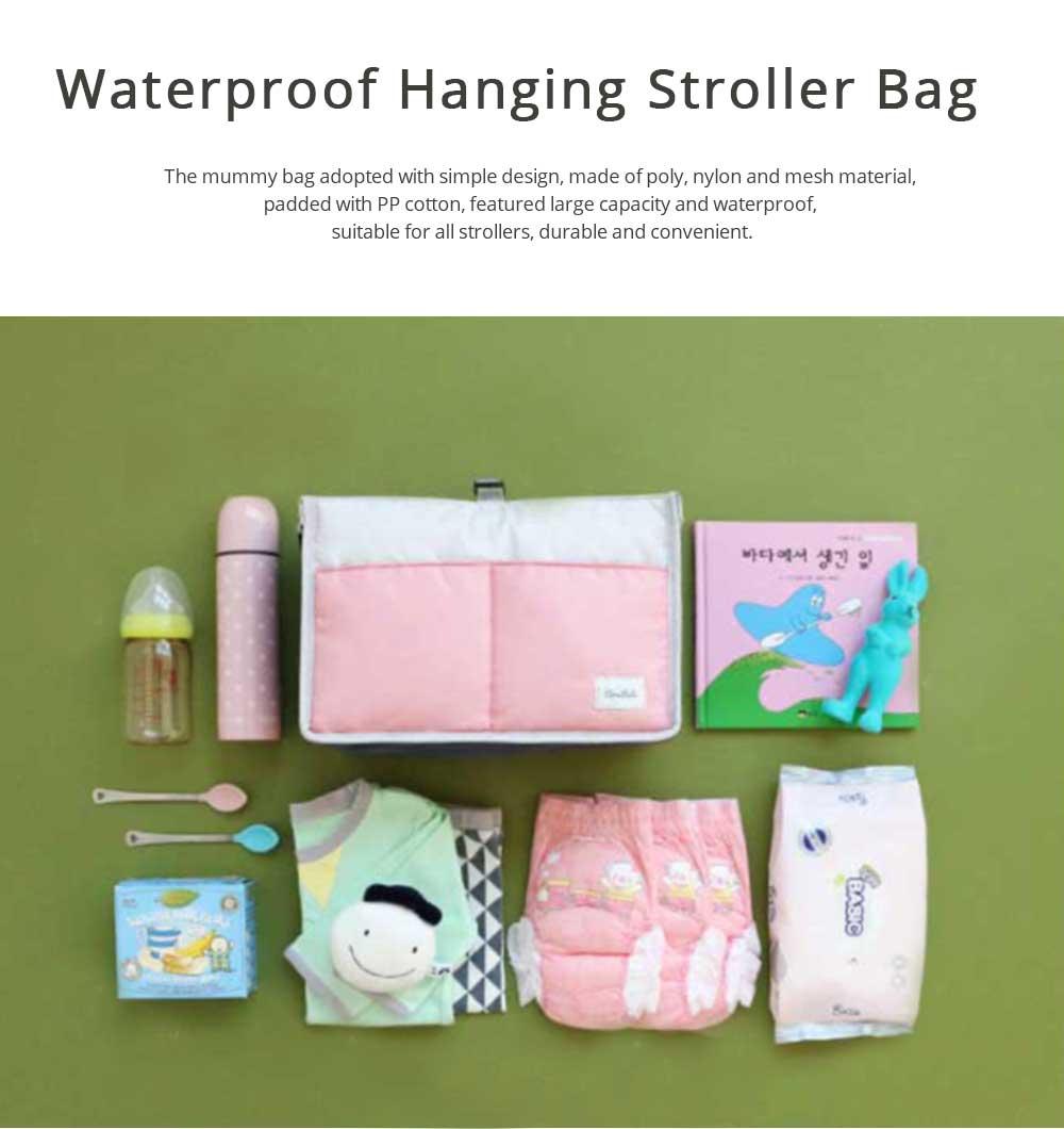 Mom's Stroller Bags, Waterproof Hanging Carriage Pram Buggy Trolley Bottle Pack 0