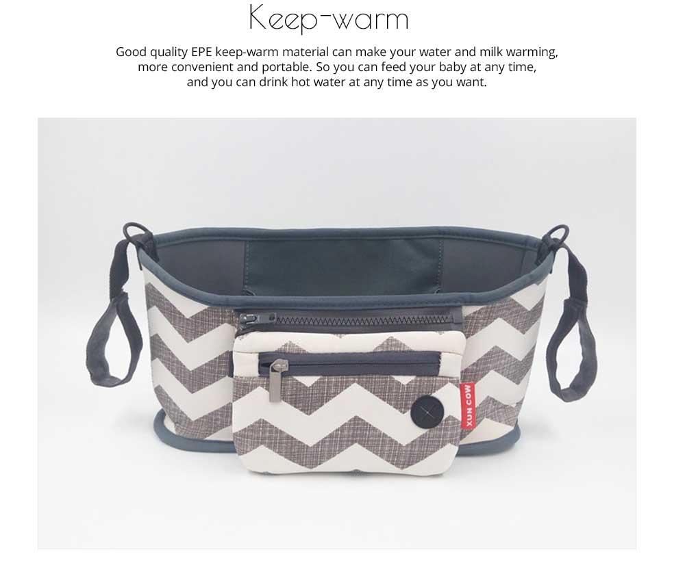 Stroller Bag Holder - Waterproof Keep Warm Stroller Bag Cup Holder with Phone Pram 11