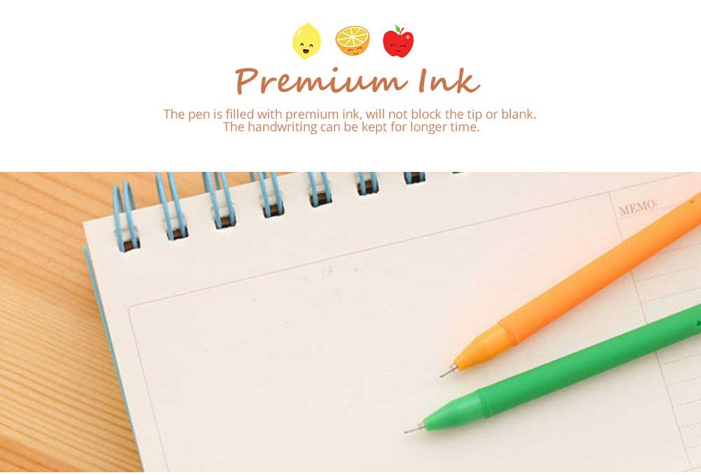 Unique Pen - Office Signature Pens with Needle Tip Colorful Fruits Sculpt, 0.5mm 7
