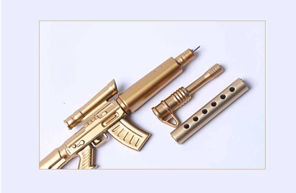 Cool Pen - Sniper Rifle Sculpt Black Neutral Pen, Unique Pen for Gifts 8
