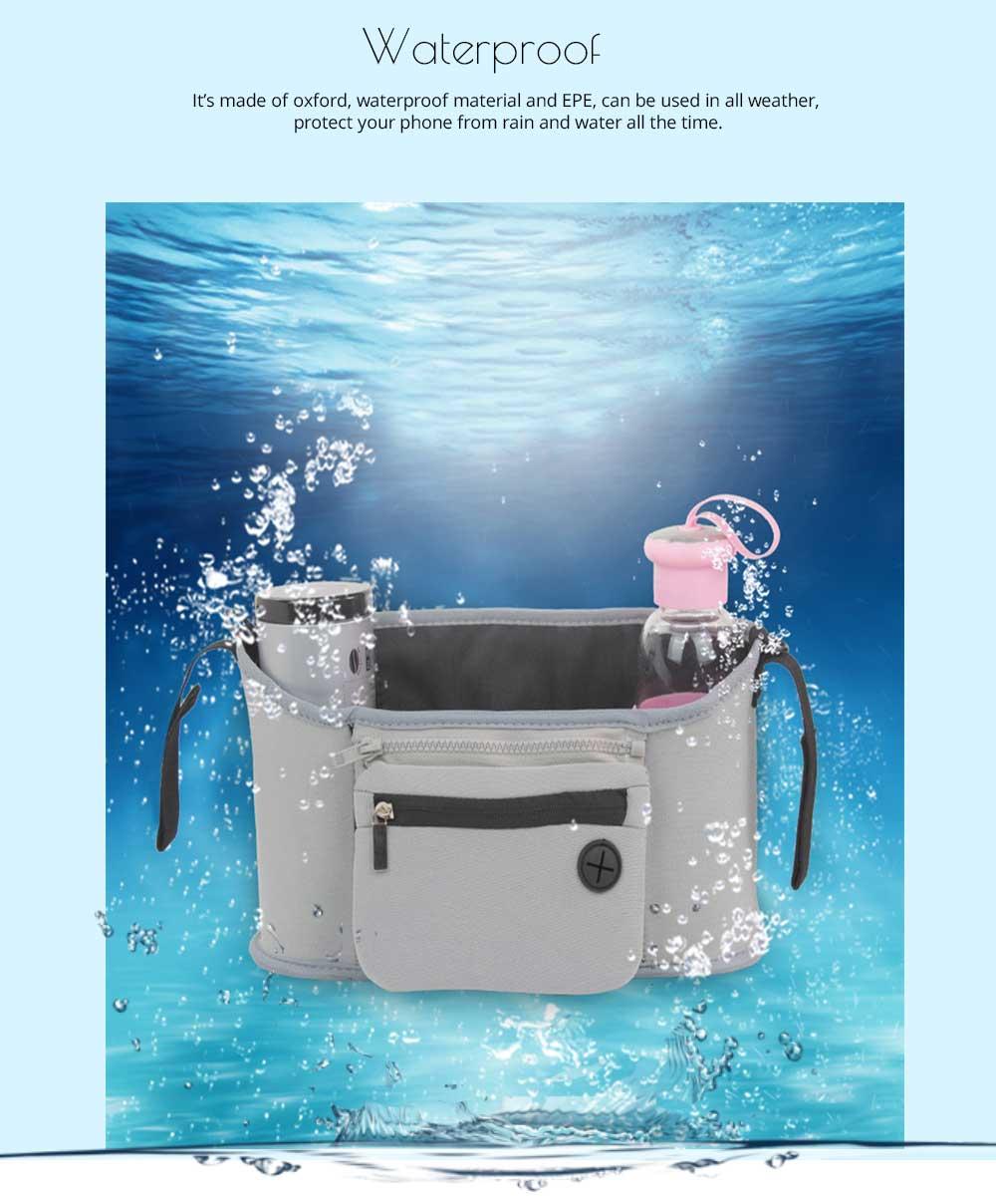 Stroller Bag Holder - Waterproof Keep Warm Stroller Bag Cup Holder with Phone Pram 10