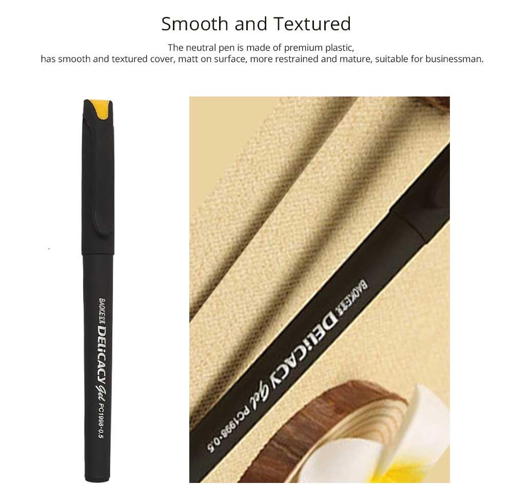 Neutral Pen - Black Mature Business Gel Pen, Office Signature Student Write, 0.5mm 1