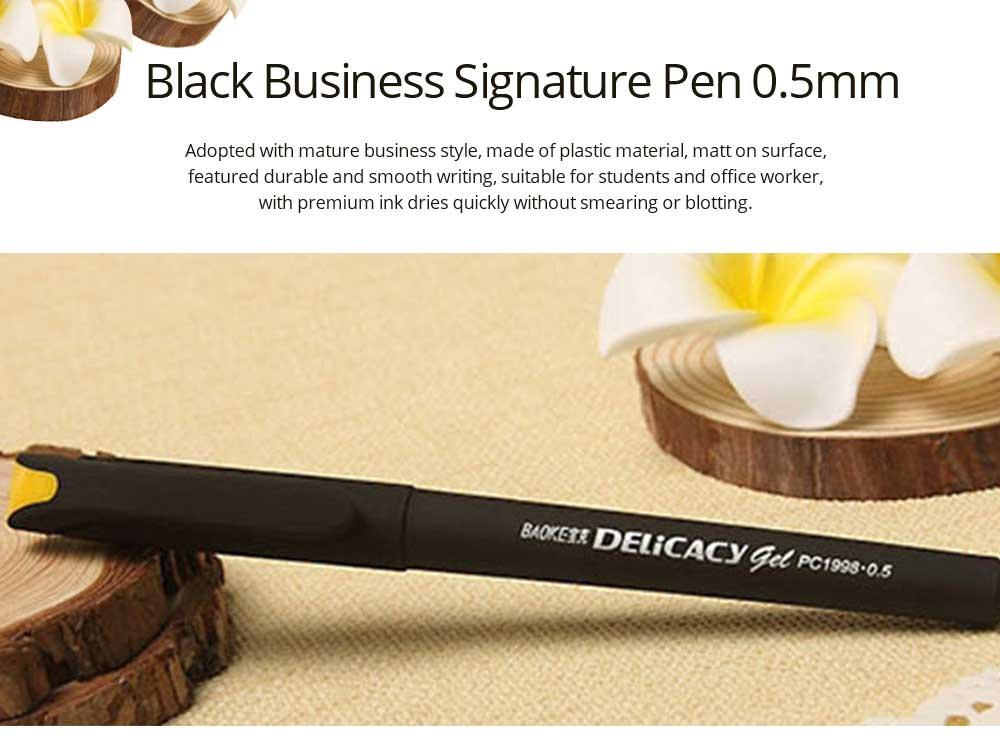 Neutral Pen - Black Mature Business Gel Pen, Office Signature Student Write, 0.5mm 0