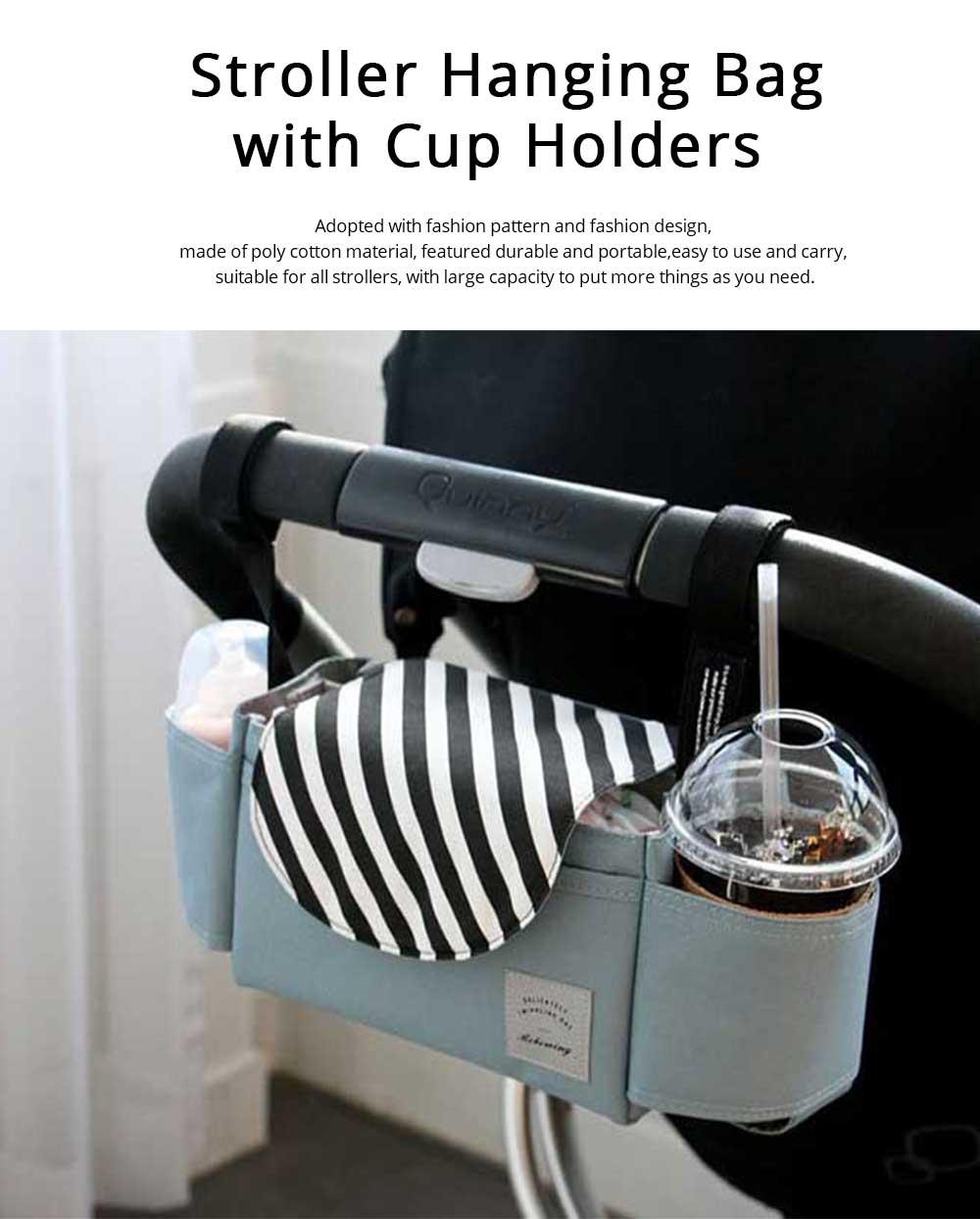 Stroller Organiser Bag Phone Pram Stroller Bag Buggy Storage Pushchair Bag Organizer Bottle Cup Pouch Holder Handbag 0